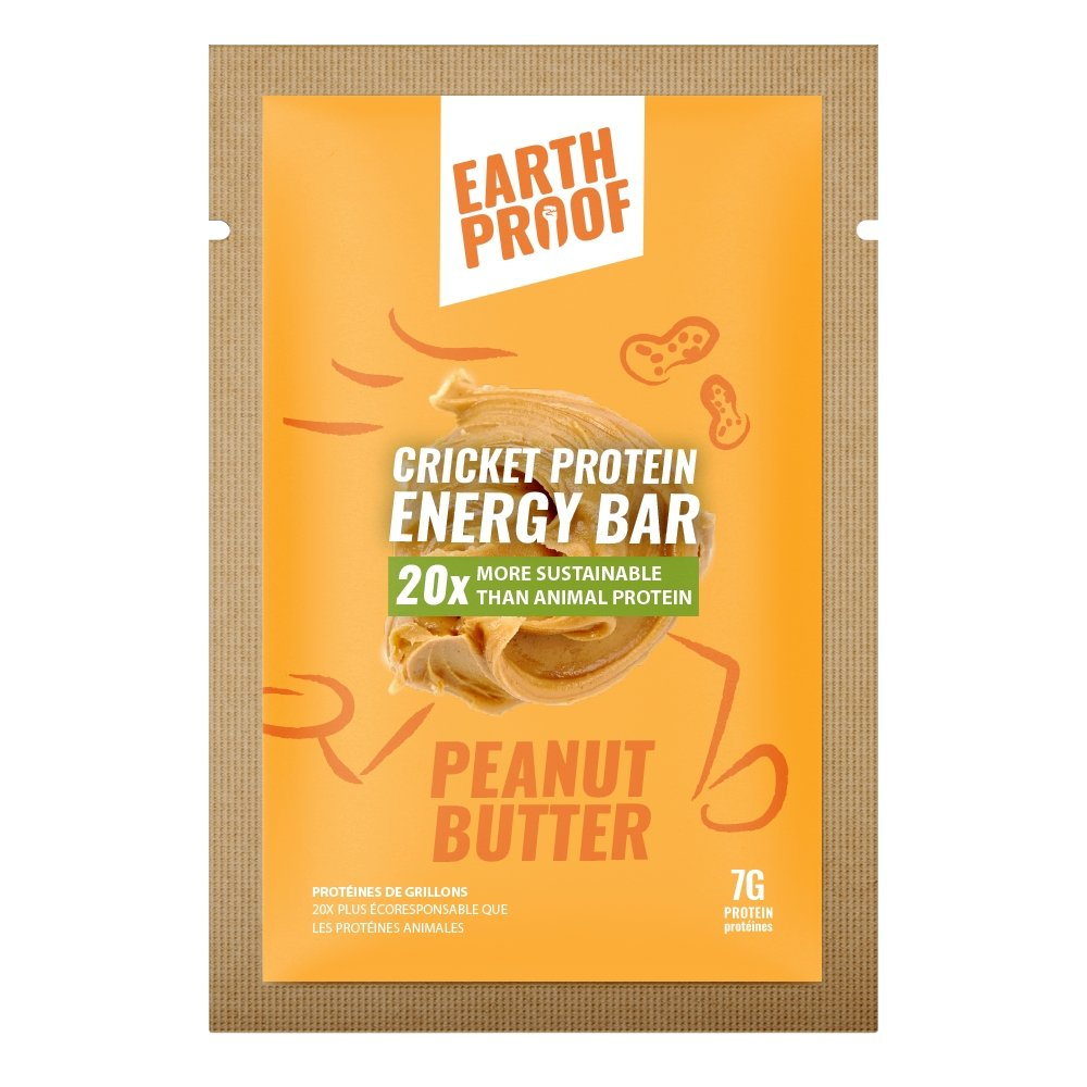 Peanut Butter Cricket Energy Bar - 12 pack - gubgub foods