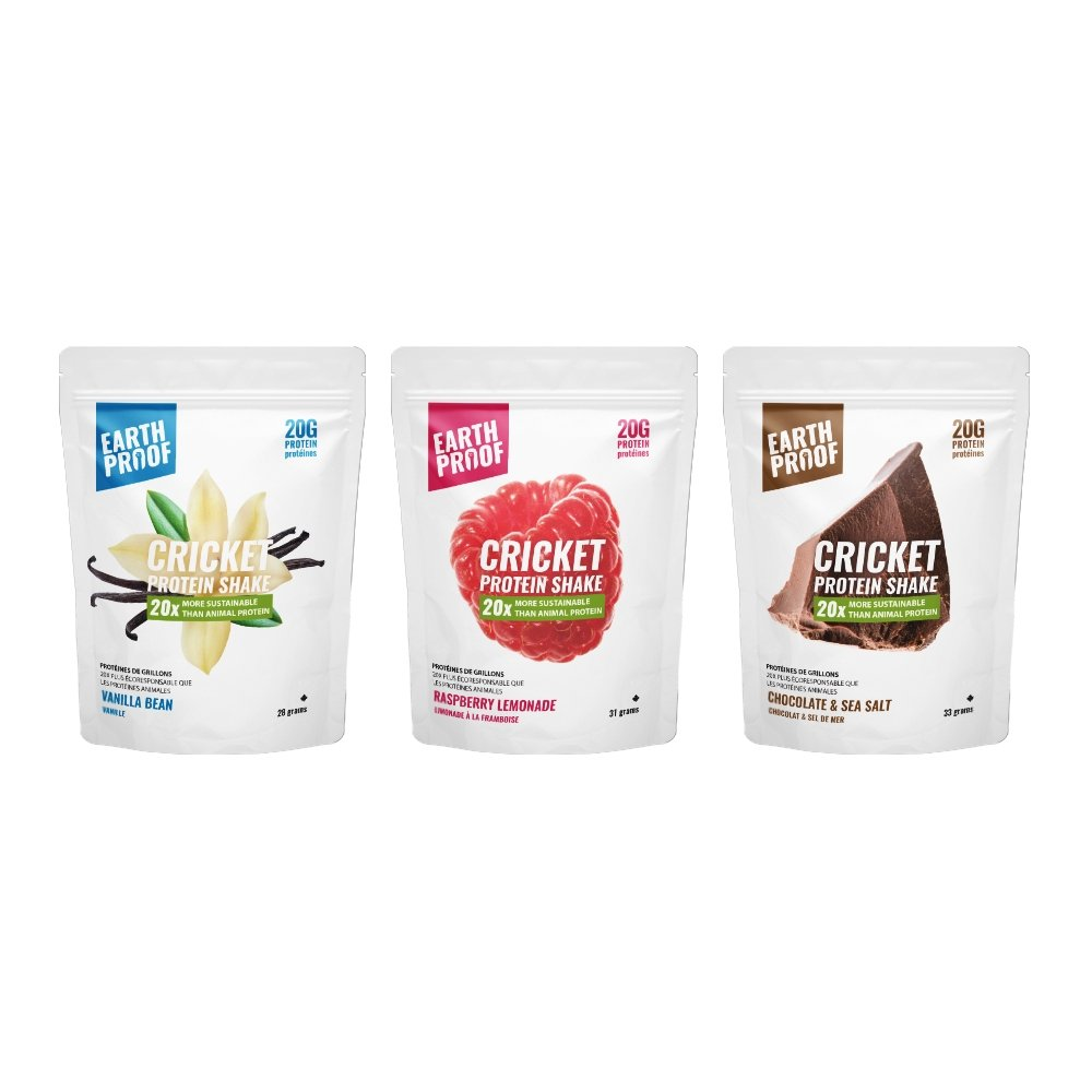 Single Serving Cricket Protein Sample 28-33g each - Earthproof Protein