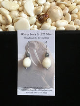 Load image into Gallery viewer, Walrus Ivory & Labradorite Earrings