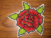 Load image into Gallery viewer, Beaded Rose Applique