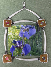 Load image into Gallery viewer, Dentalium & moose skin Picture frame w/wild iris