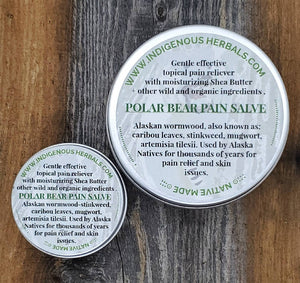 Polar Bear Pain salve wormwood stinkweed artemisia tilesii one ounce