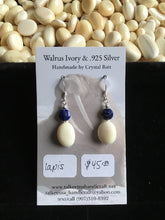 Load image into Gallery viewer, Walrus Ivory & Lapis Earrings