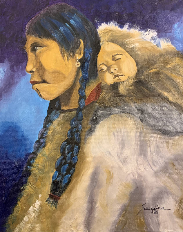 Inupiat Mother and Child