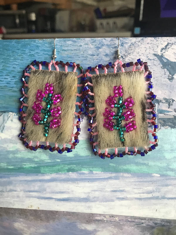 Seal fur with fireweed pattern