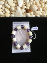 Load image into Gallery viewer, Walrus Ivory & Amethyst Bracelet