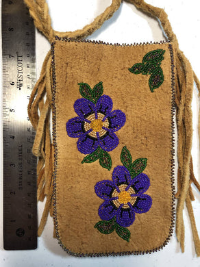 Moose Hide Beaded Cross Body Purse