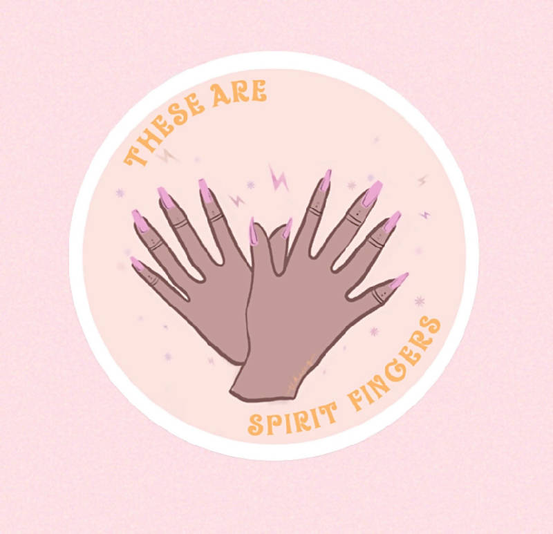 A Spirit Fingers Sticker