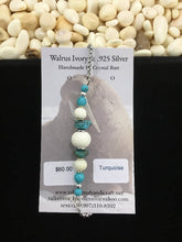 Load image into Gallery viewer, Walrus Ivory & Turquoise Adjustable Bracelet