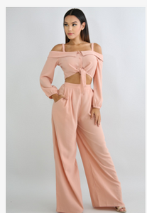 """Pretty In Blush"" Pants Set"