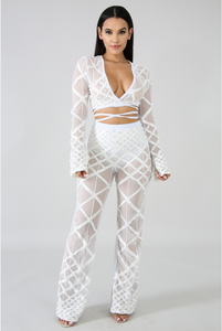 """All White Affair"" Pants Set"