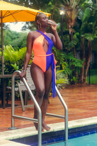 """Summer Vibes"" One Piece Swim Wear"