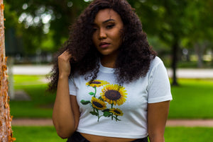 """Something about Sunflowers"" Crop Top"
