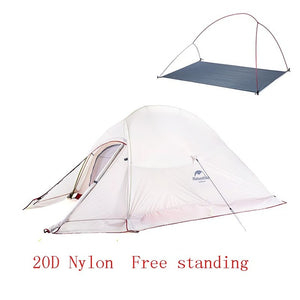 Naturehike Ultralight 2 Person Tent 20D Nylon or 210T Polyester