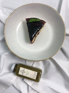 Blueberry Cake With Hot Sauce Glaze