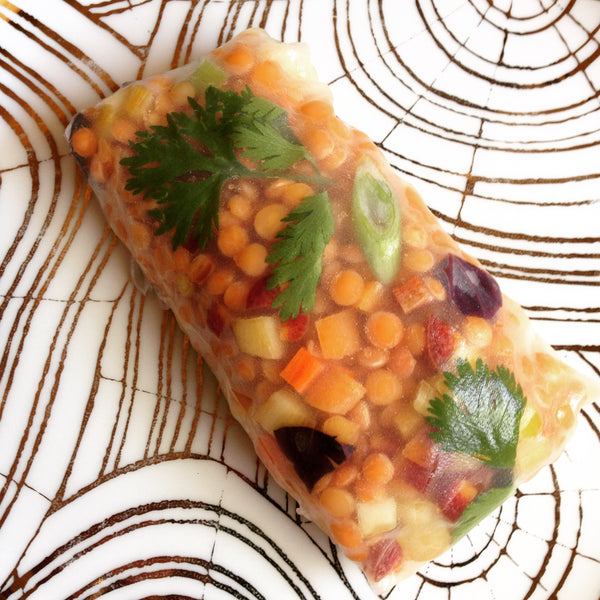 Habanero Carrot Curry Lentil Summer Rolls