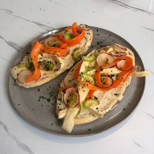 Toast With Spicy Cashew Carrot Salad