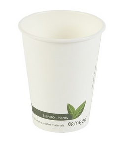 12oz Biodegradable & Compostable Single Wall Paper Cups