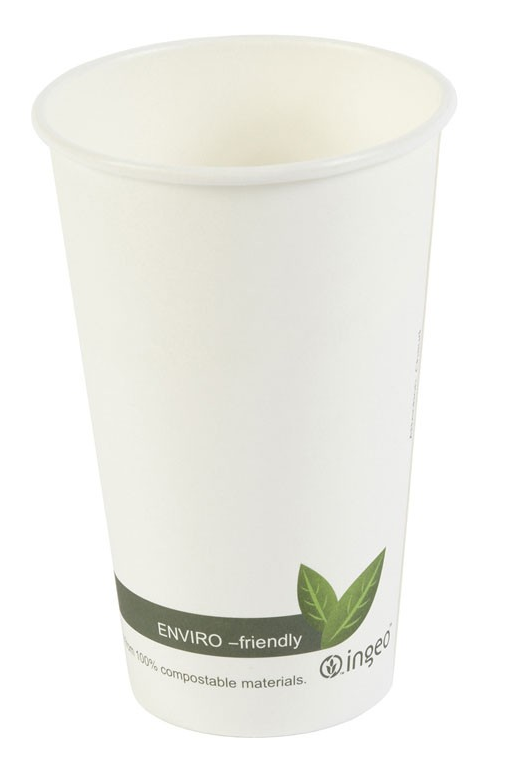 16oz Biodegradable & Compostable Single Wall Paper Cups