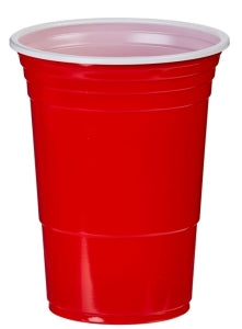 16oz Red American Plastic Party Cups