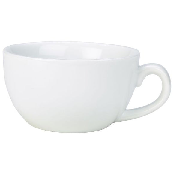 Royal Genware Bowl Shaped Cappuccino Cups 25cl (Pack of 6)