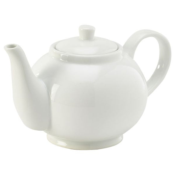 Genware Porcelain Teapot 45cl/15.75oz (Pack of 6)