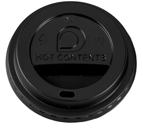8oz Black Domed Sip-Thru Lids (Paper Cups)