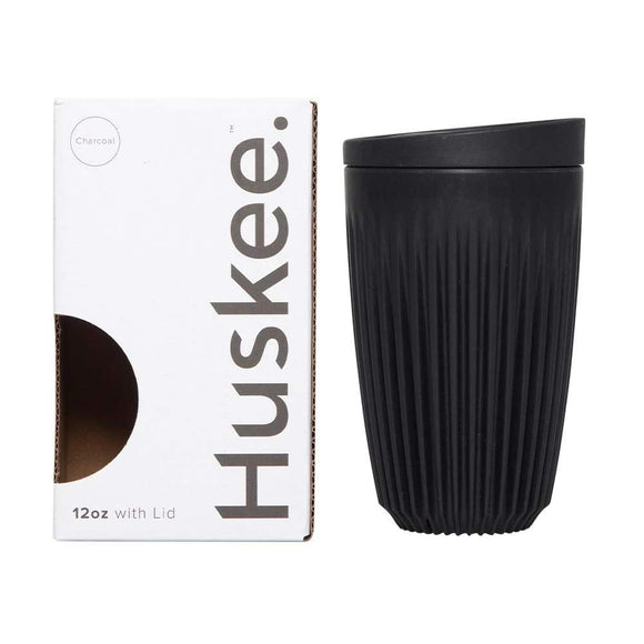 HuskeeCup 12oz Cup & Lid - Single Pack (Charcoal)