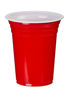 12oz Red American Plastic Party Cups