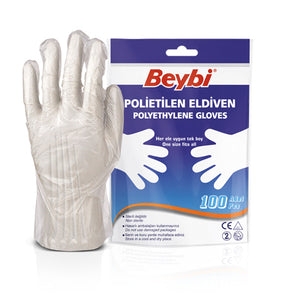 Beybi Polyethylene Gloves (Pack of 100)
