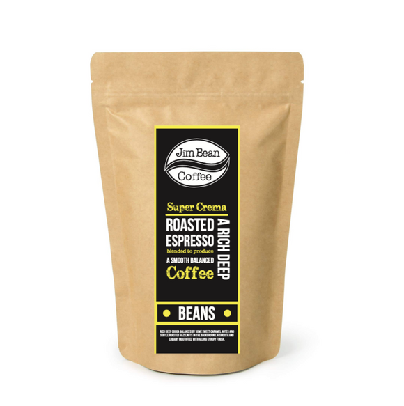 JimBean Super Crema Coffee Beans (250G Bag)
