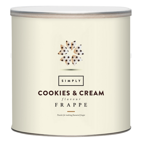 Simply Cookies & Cream Frappe Powder (1.75KG Tin)