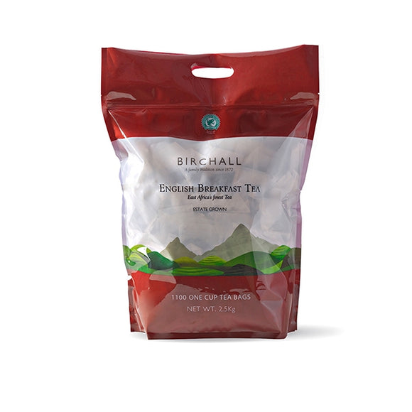 Birchall English Breakfast 1100 One Cup Tea Bags (2.5KG Bag)