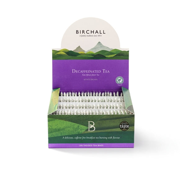 Birchall Decaffeinated Tagged Tea Bags (100 Tea Bags Per Box)