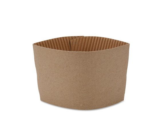 8oz Biodegradable Brown Coffee Sleeves