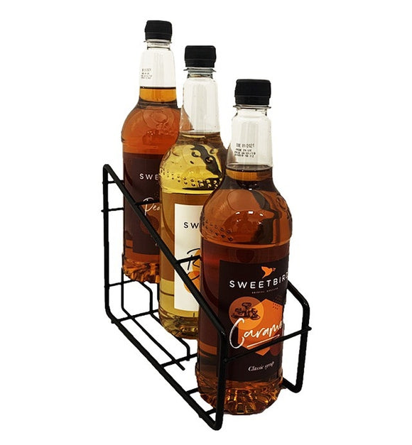 Syrup Bottle Display Rack (3 Bottles)