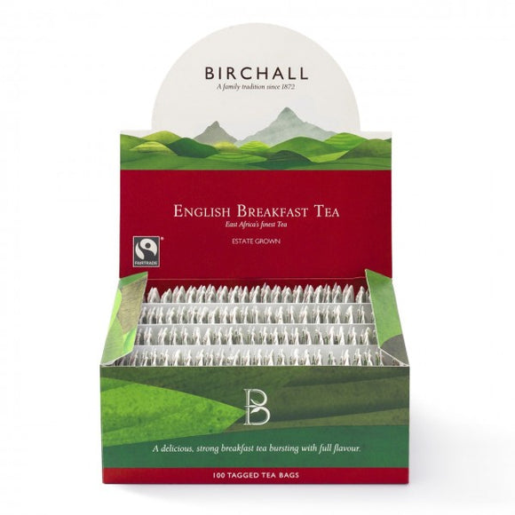 Birchall English Breakfast Tagged Tea Bags (100 Per Box)