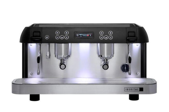 Iberital Expression Pro 2 Group Traditional Espresso Coffee Machine (Black)