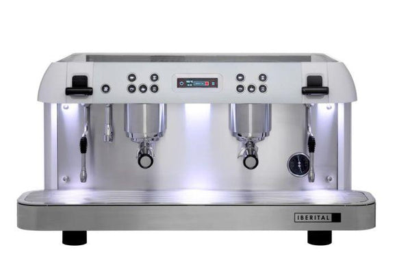 Iberital Expression Pro 2 Group Traditional Espresso Coffee Machine (White)