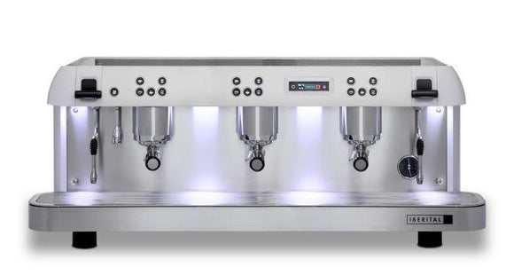 Iberital Expression Pro 3 Group Traditional Espresso Coffee Machine (White)