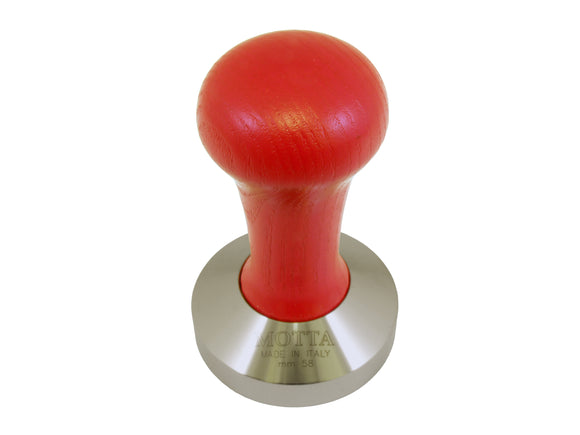 Motta Wooden Coffee Tamper - 58mm (Red)