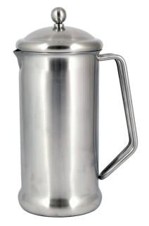 Brushed Finish Stainless Steel Cafetiere - 6 Cup