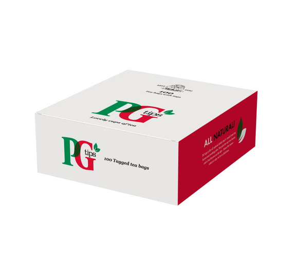 PG Tips Tagged Tea Bags (100 Bags)