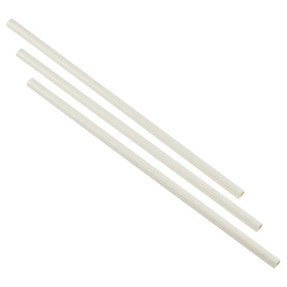 White Biodegradable Paper Straws (Box of 250)