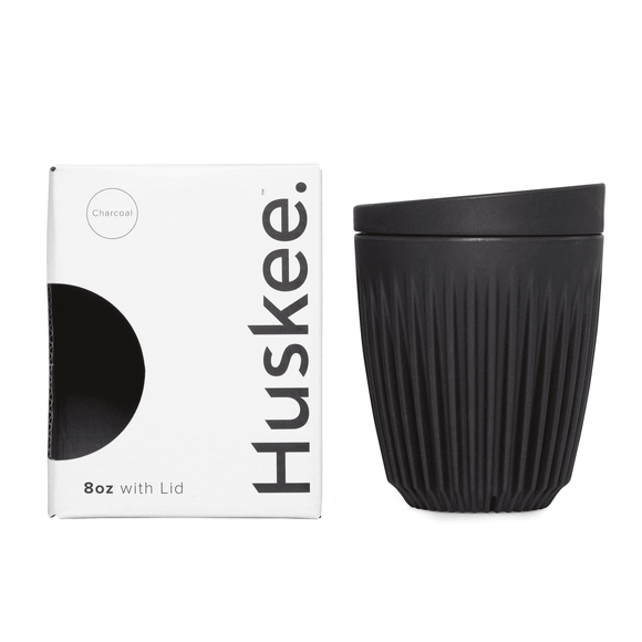 HuskeeCup 8oz Cup & Lid - Single Pack (Charcoal)