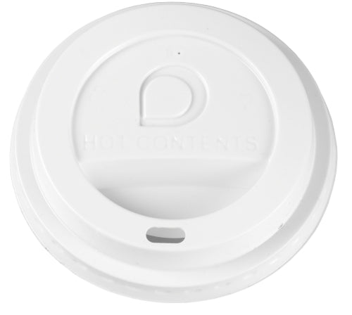 8oz White Domed Sip-Thru Lids (Paper Cups)