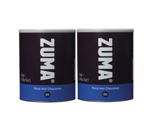 Zuma Thick Vegan Hot Chocolate (2 x 2KG Tins)