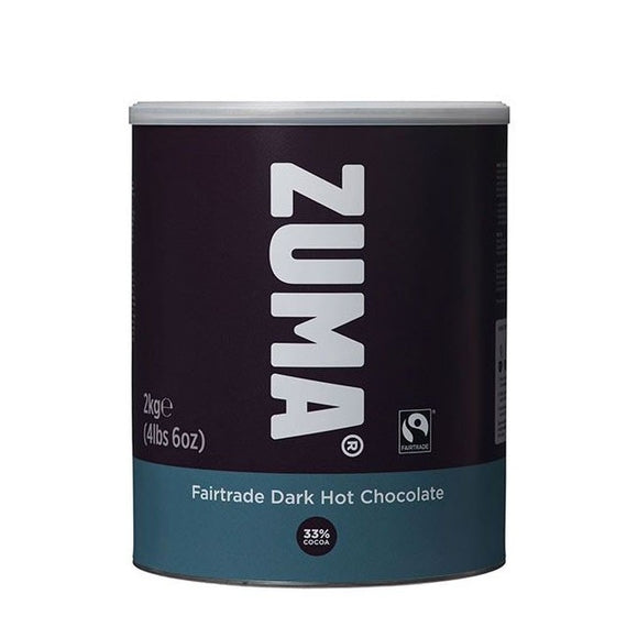 Zuma Fairtrade Dark Vegan Hot Chocolate (2KG Tin)