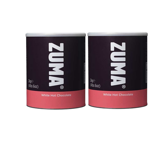 Zuma White Hot Chocolate (2 x 2KG Tin)