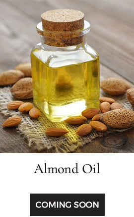 Oil extracted from the natural almonds